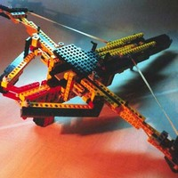 a semi-automatic pump-action lego crossbow
