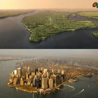 NYC as it would've looked 400 years ago