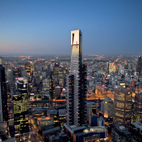 Melbourne by night (Eurkea Tower)